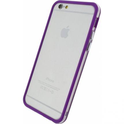 Xccess Kunststoff Bumper für iPhone 6(s) - Transparent / Lila