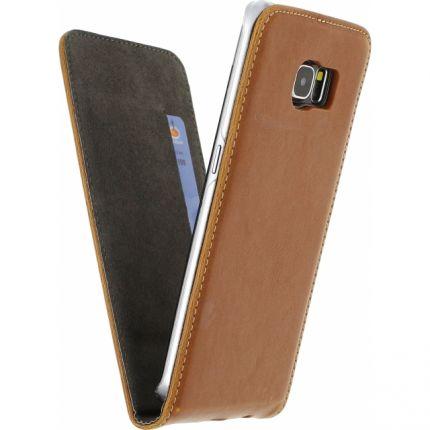 Mobilize Premium Magnet Flipcase für Samsung Galaxy S6 Edge - Braun