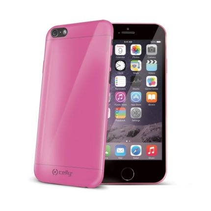 Celly Gelskin TPU Backcover für iPhone 6(s) - Pink