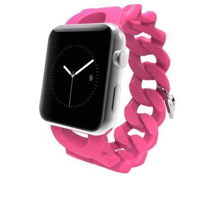Case Mate Turnlock Strap Silikon Armband für Apple Watch 40mm / 38mm - Pink