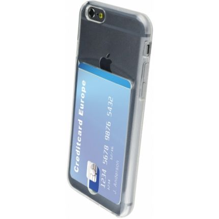 Mobiparts Smart Creditcard TPU Backcover für iPhone 6(s) - Transparent