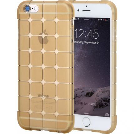 Rock Cubee TPU Backcover für iPhone 6(s) - Gold