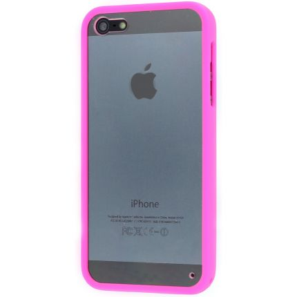 Phone Essentials Clear Hardcase Backcover für iPhone 4(S) - Transparent / Pink