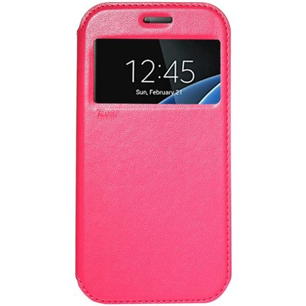 Mobigear Call ID Klapphülle für Samsung Galaxy S7 - Rot