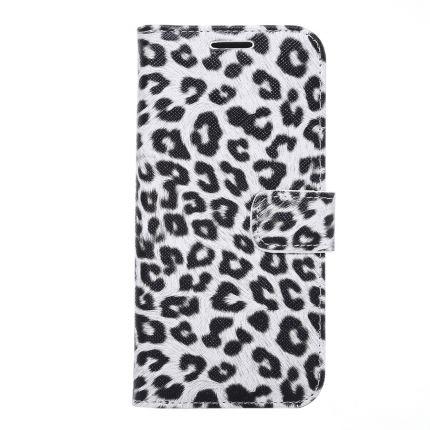 Mobigear Leopard Klapphülle für Samsung Galaxy S7 Edge - Weiß