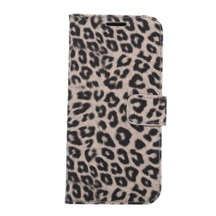 Mobigear Leopard Klapphülle für Samsung Galaxy S7 Edge - Braun
