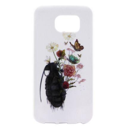 Mobigear Design TPU Backcover für Samsung Galaxy S7 Edge - Schmetterling
