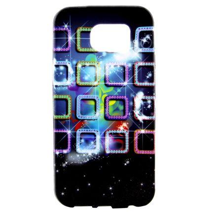 Mobigear Design TPU Backcover für Samsung Galaxy S7 Edge - Schillernde Gitter