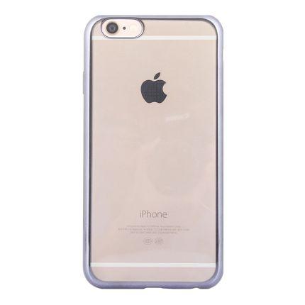 Mobigear Royal TPU Backcover für iPhone 6(s) - Transparent / Schwarz