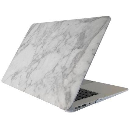 Mobigear Marmor Case für MacBook Pro 15 Zoll - Weiß / Grau