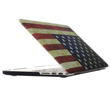 Mobigear Design Case für MacBook Pro 13 Zoll - Vintage US-Flagge.