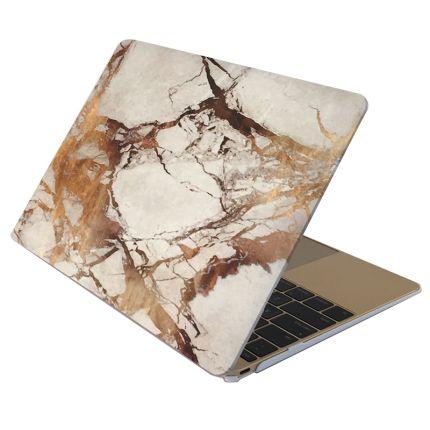 Mobigear Marmor Case für MacBook 12 Zoll - Weiß / Braun