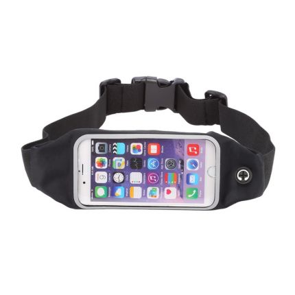 Mobigear Neopren Sportarmband für iPhone 6(s) - Schwarz