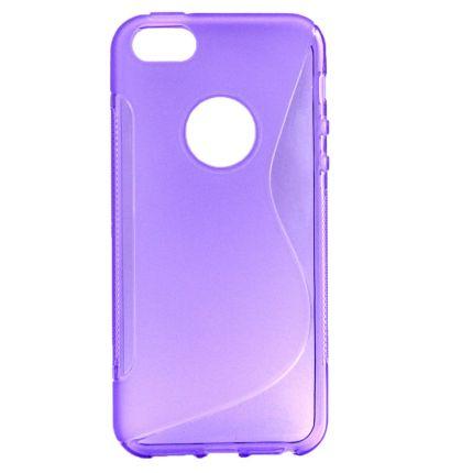 Mobigear S-Line TPU Backcover für iPhone SE (2016) / 5S / 5 - Lila