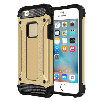 Mobigear Outdoor Hardcase Backcover für iPhone SE (2016) / 5S / 5 - Gold