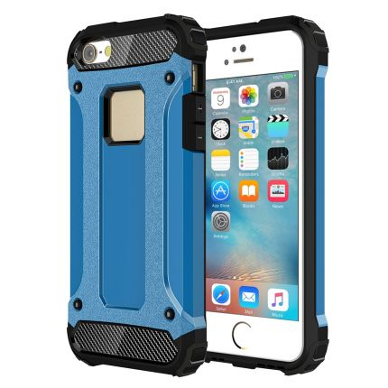 Mobigear Outdoor Hardcase Backcover für iPhone SE (2016) / 5S / 5 - Blau