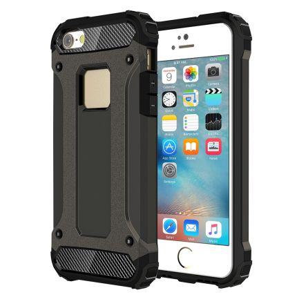 Mobigear Outdoor Hardcase Backcover für iPhone SE (2016) / 5S / 5 - Gunmetal