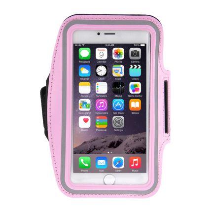 Mobigear Neopren Sportarmband für iPhone 8 Plus / 7 Plus / 6(s) Plus - Pink