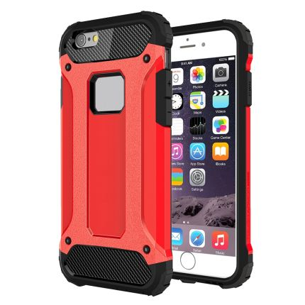 Mobigear Outdoor Hardcase Backcover für iPhone 6(s) Plus - Rot