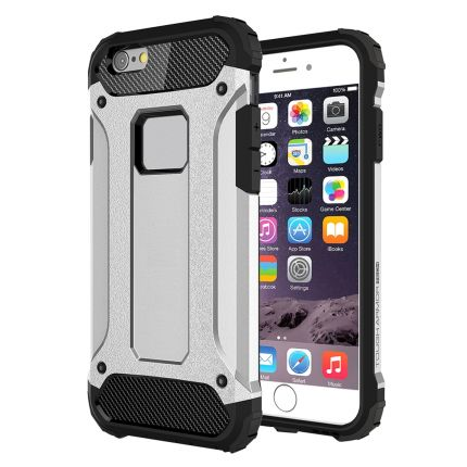 Mobigear Outdoor Hardcase Backcover für iPhone 6(s) Plus - Silber