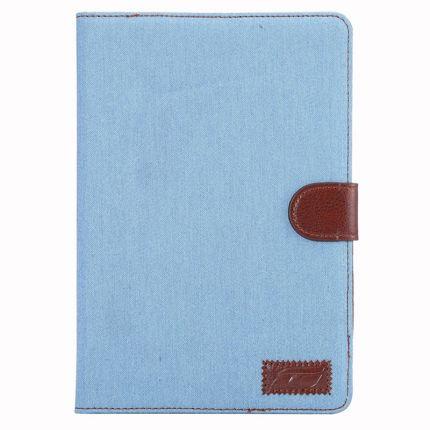 Mobigear Denim Baumwolle Klapphülle für iPad Mini 4 (2015) - Denim Blue