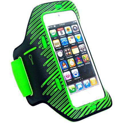 Mobigear LED Neopren Sportarmband für iPhone SE (2016) / 5S / 5C / 5 - Grün