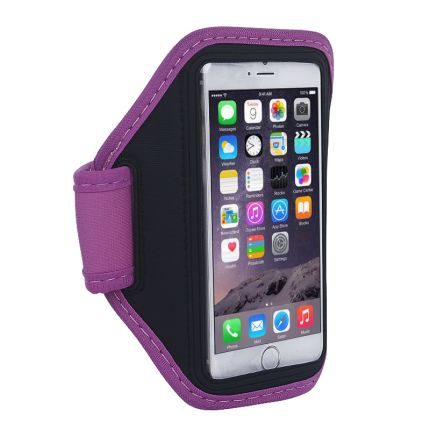 Mobigear Neopren Sportarmband für iPhone 6(s) - Magenta