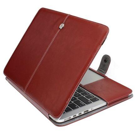 Mobigear Business Case für MacBook Pro 13 Zoll - Braun