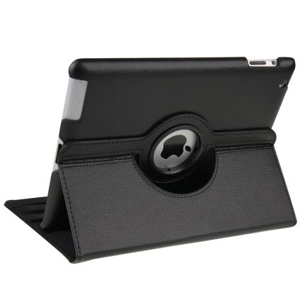 Mobigear 360 Rotating Klapphülle für iPad 4 (2012) / iPad 3 (2012) / iPad 2 (2011) - Schwarz
