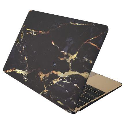 Mobigear Marmor Case für MacBook Pro 15 Zoll - Schwarz / Gold