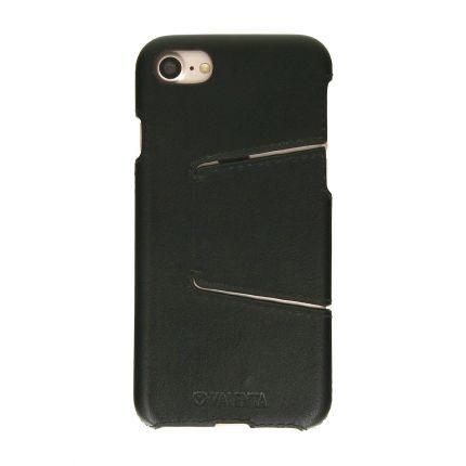 Valenta Classic Echtleder Backcover für iPhone SE (2020) / 8 / 7 - Classic Black
