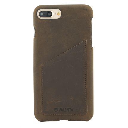 Valenta Classic Echtleder Backcover für iPhone 8 Plus / 7 Plus - Vintage Luxury Brown