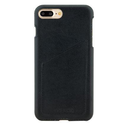 Valenta Classic Echtleder Backcover für iPhone 8 Plus / 7 Plus - Classic Black