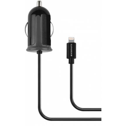 Mobiparts Auto Ladegerät Apple Lightning 1 Meter 2.4A - Schwarz