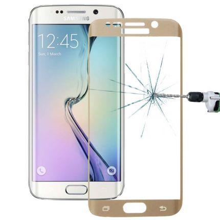 Mobigear Edge To Edge Panzerglas Displayschutz für Samsung Galaxy S6 Edge Plus - Gold