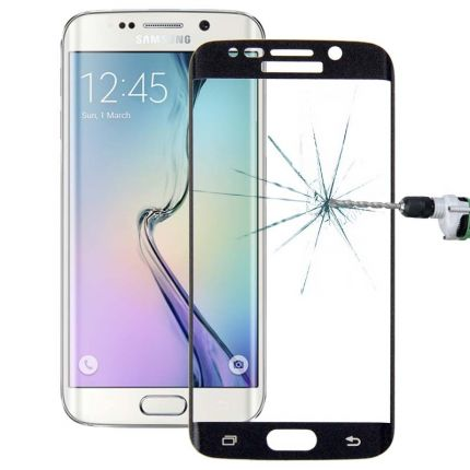 Mobigear Edge To Edge Panzerglas Displayschutz für Samsung Galaxy S6 Edge - Schwarz