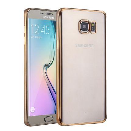 Mobigear Royal TPU Backcover für Samsung Galaxy S6 Edge - Transparent / Gold