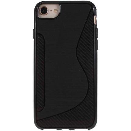 Mobigear S-Line TPU Backcover für iPhone SE (2020) / 8 / 7 - Schwarz