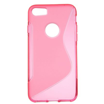 Mobigear S-Line TPU Backcover für iPhone SE (2020) / 8 / 7 - Magenta