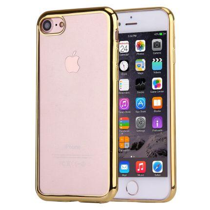 Mobigear Royal TPU Backcover für iPhone SE (2020) / 8 / 7 - Transparent / Gold