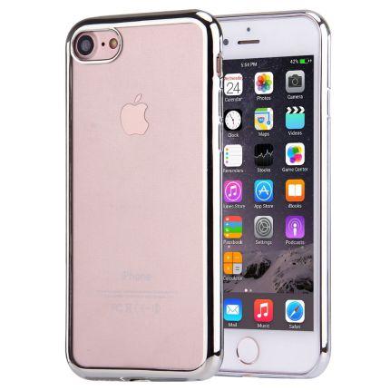 Mobigear Royal TPU Backcover für iPhone SE (2020) / 8 / 7 - Transparent / Silber
