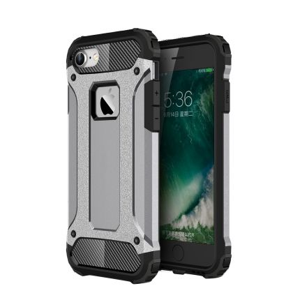 Mobigear Outdoor Hardcase Backcover für iPhone SE (2020) / 8 / 7 - Grau