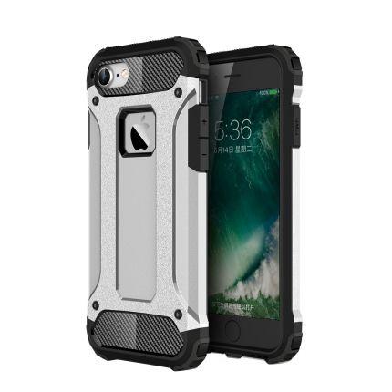 Mobigear Outdoor Hardcase Backcover für iPhone SE (2020) / 8 / 7 - Silber