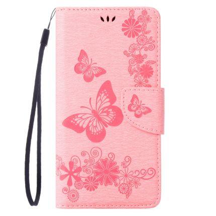 Mobigear Schmetterling Klapphülle für iPhone SE (2020) / 8 / 7 - Pink