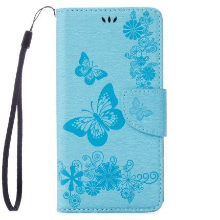 Mobigear Schmetterling Klapphülle für iPhone SE (2020) / 8 / 7 - Türkis