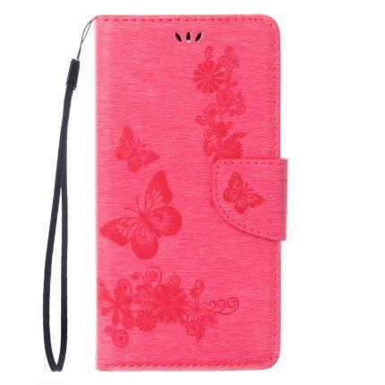 Mobigear Schmetterling Klapphülle für iPhone SE (2020) / 8 / 7 - Magenta