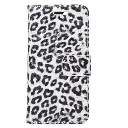 Mobigear Leopard Klapphülle für iPhone SE (2020) / 8 / 7 - Weiß