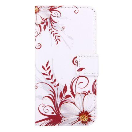 Mobigear Design Klapphülle für iPhone SE (2020) / 8 / 7 - Blumen