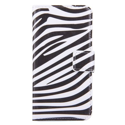 Mobigear Design Klapphülle für iPhone SE (2020) / 8 / 7 - Zebra