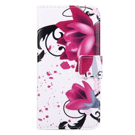Mobigear Design Klapphülle für iPhone SE (2020) / 8 / 7 - Lotusblume
